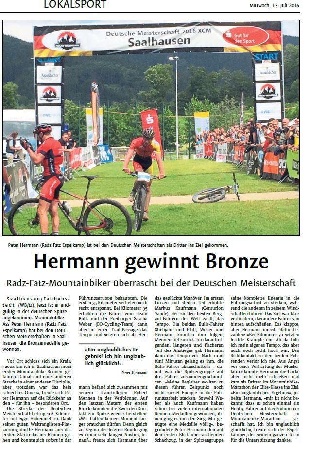 2016-07-13 Westfalenblatt Artikel